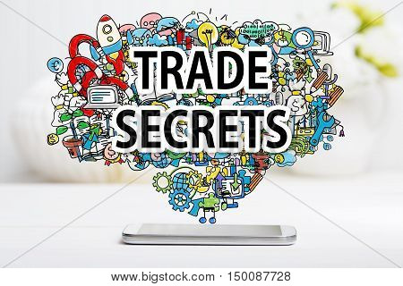 Trade Secrets Concept With Smartphone