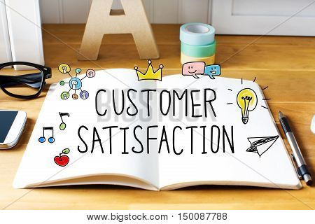 Customer Satisfaction Concept With Notebook