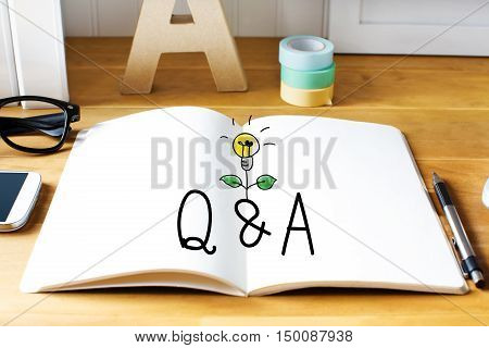Q And A Concept With Notebook