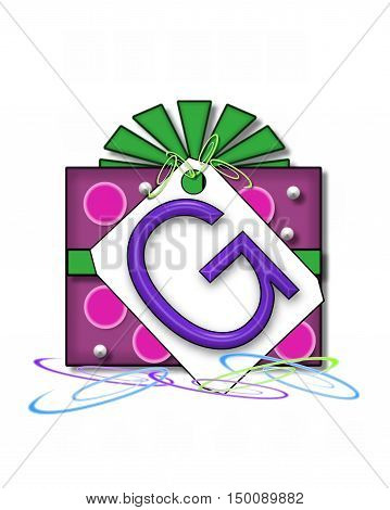 Alphabet Gift Wrapped G