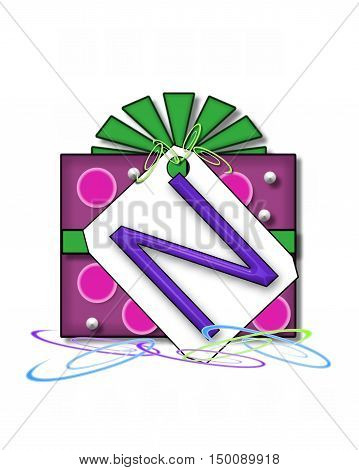 Alphabet Gift Wrapped N