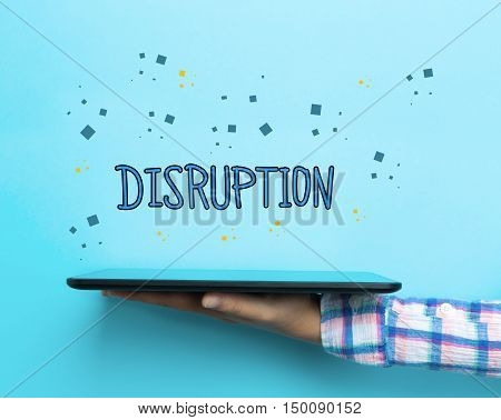 Disruption Concept With A Tablet