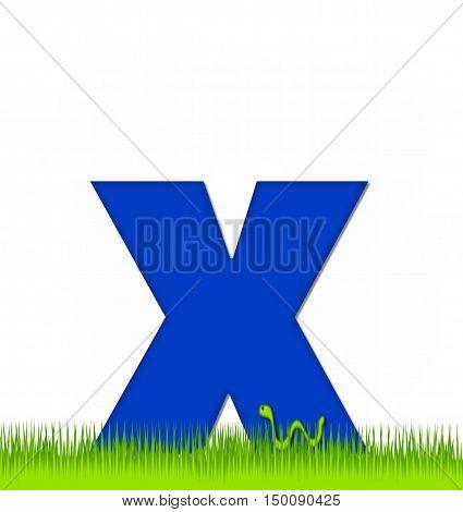 Alphabet Apple A Day Eaten Away X