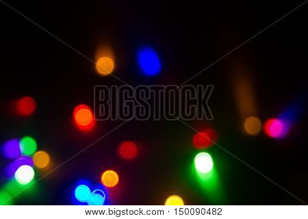 multicolored blurred x mas lights back drop
