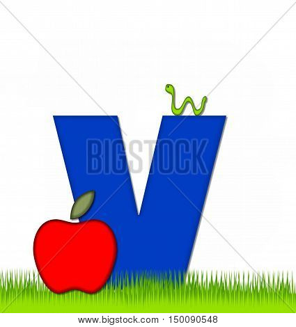 Alphabet Apple A Day Eaten Away V