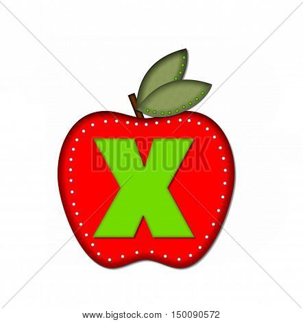 Alphabet Delicious Apple X