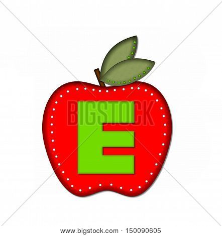 Alphabet Delicious Apple E
