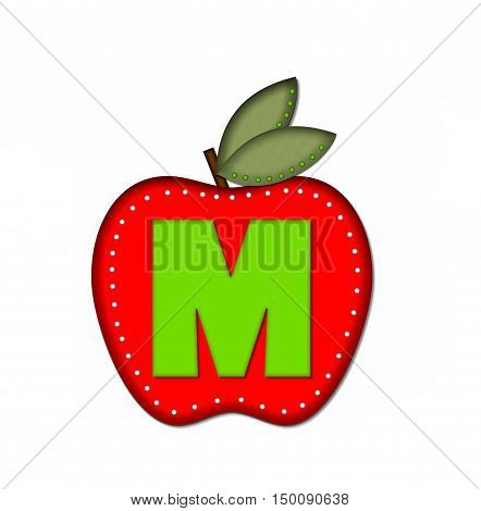 Alphabet Delicious Apple M