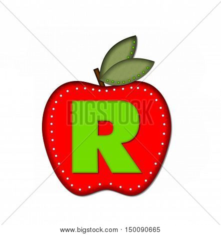 Alphabet Delicious Apple R