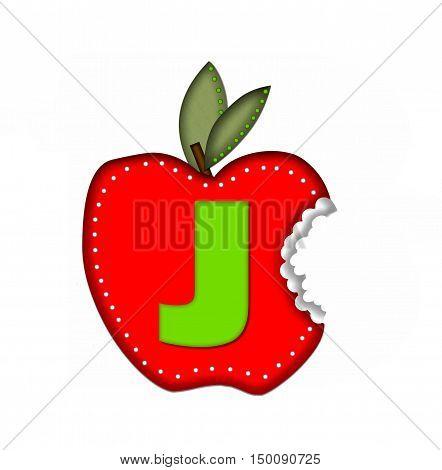 Alphabet Delicious Apple Bite J