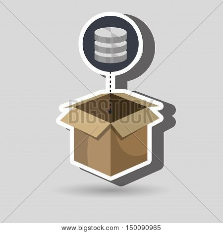 box data base hardware vector illustration eps 10