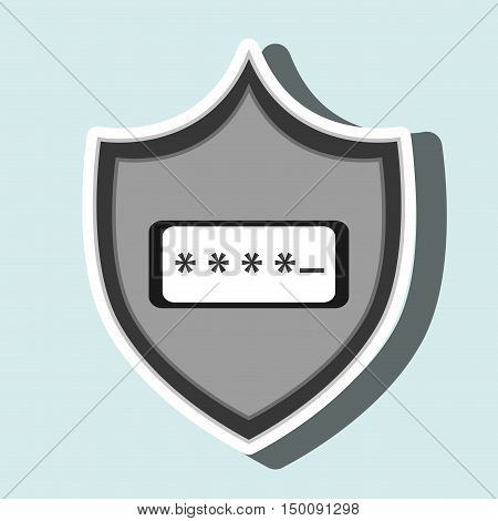 symbol password secure data vector illustration eps 10