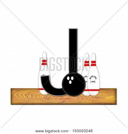 Alphabet Bowling J
