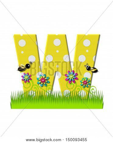 Alphabet Buzzing Bee W