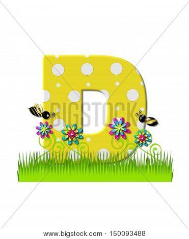 Alphabet Buzzing Bee D