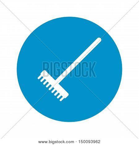 rake icon on white background for web