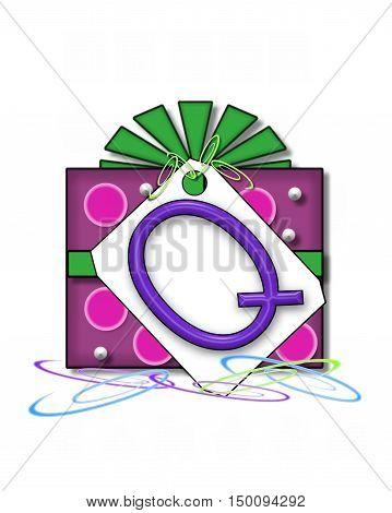 Alphabet Gift Wrapped Q