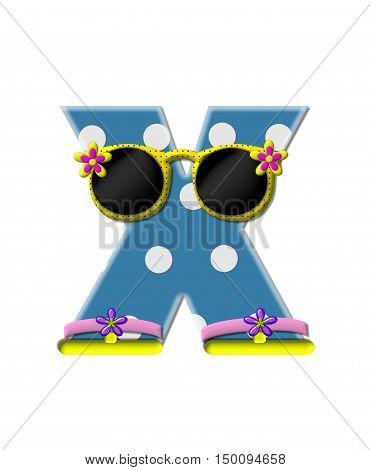 Alphabet Polka Dot Bikini X