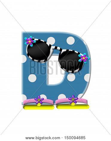 Alphabet Polka Dot Bikini D