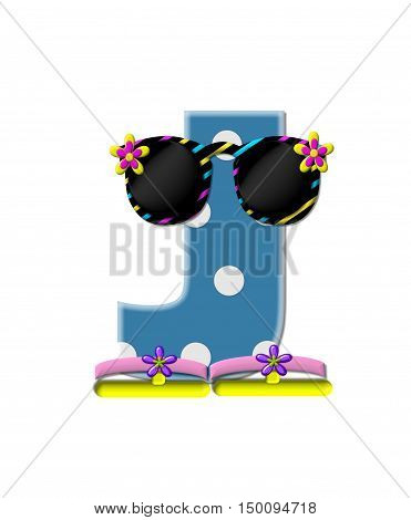 Alphabet Polka Dot Bikini J