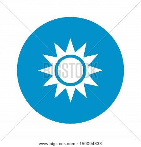 sun icon on white background for web
