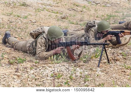 Soviet Spetsnaz special operations group on a mission