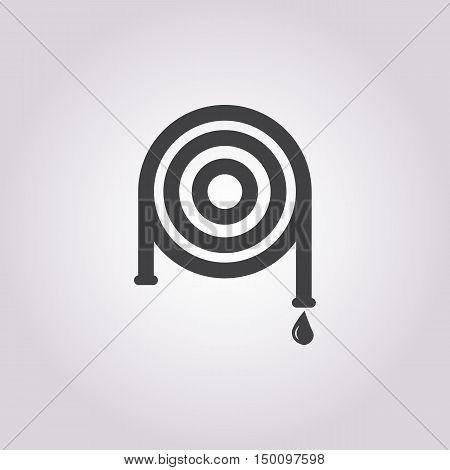 hose icon on white background for web