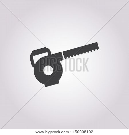 electric saw icon on white background for web