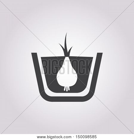 onion icon on white background for web