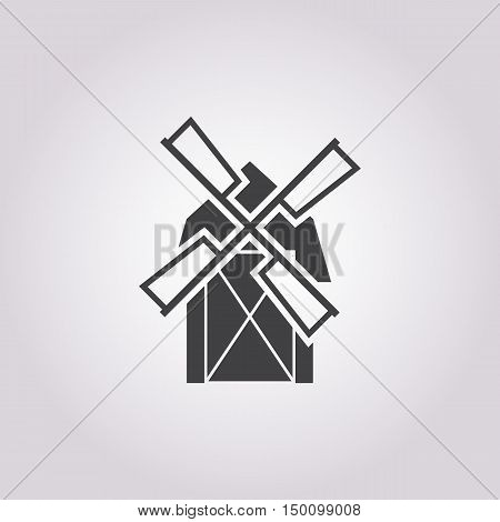 mill icon on white background for web