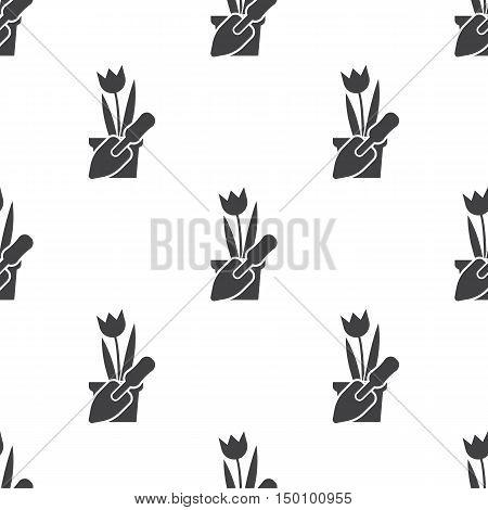 tulip icon on white background for web