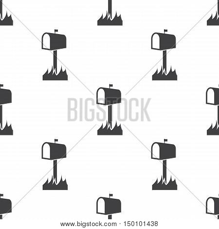 mailbox icon on white background for web