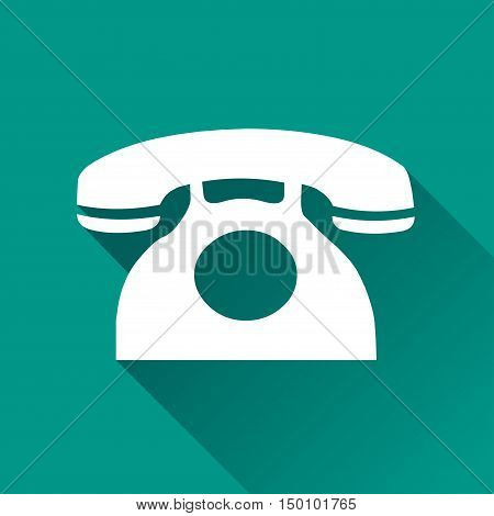 Illustration of phone design icon with shadow