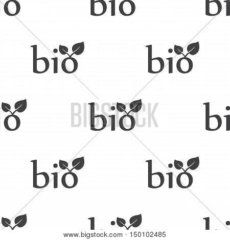 bio icon on white background for web