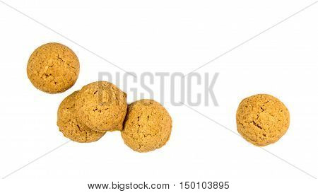 Five Scattered Ginger Nuts Seen From Above