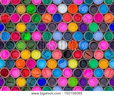 Colorful water color in bottles four seamless patterns