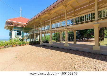Maruekhathaiyawan Palace Huahin Chaam, Phetchaburi Province, Thailand
