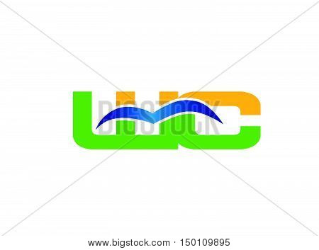 WC company linked letter logo design vector template