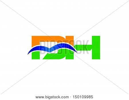 DH company linked letter logo design vector template