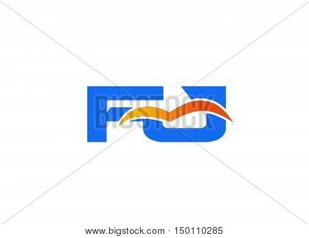 FJ initial company logo design vector template