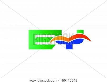 EY Logo. EY Logo design vector template