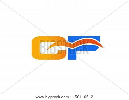 CF Logo. Vector Graphic Branding Letter Element