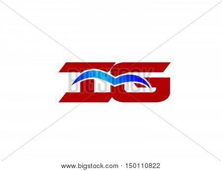 iG letter logo. iG letter logo design vector template