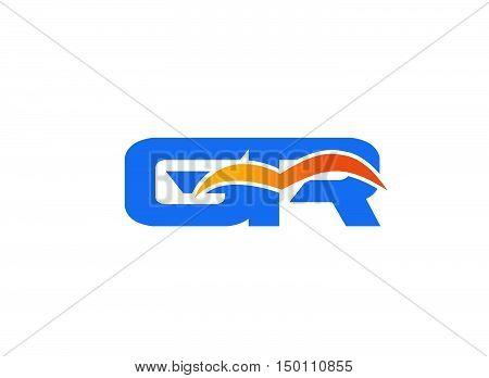 GR letter logo.GR letter logo design vector template