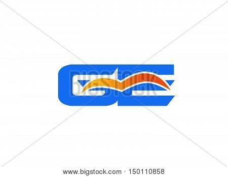 GE letter logo illustration design vector template