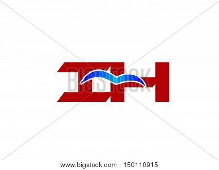 i and H logo vector design vector template