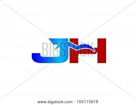 J and H logo vector design vector template