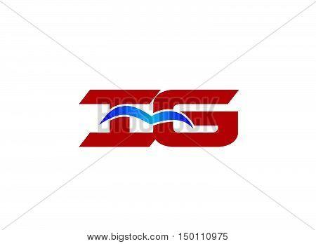iG company logo. iG company logo design vector template