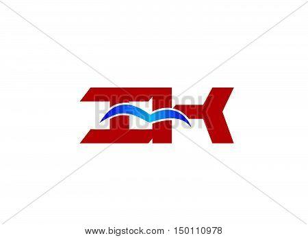 iK company logo. iK company logo design vector template