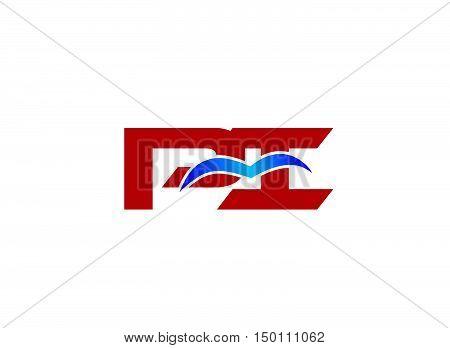 PI company linked letter logo vector design